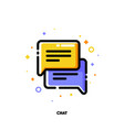 icon of two speech bubbles for help chat vector image vector image