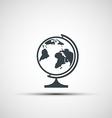 icons school globe vector image