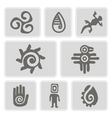 icons with Mexican relics dingbats characters vector image
