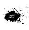 ink brush drops vector image vector image
