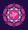 international yoga day poster vector image vector image