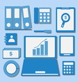 Internet investor at home office color icons vector image