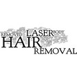 laser hair removal the procedure text background vector image vector image