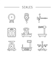 Linear icons of scales vector image vector image