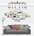 living room suites vector image