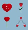 love icon set vector image vector image