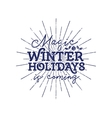 Magic winter holiday typography label Retro photo vector image vector image