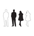male and female silhouette vector image vector image