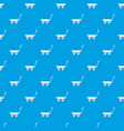 market trolley pattern seamless blue vector image vector image