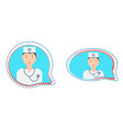 medical consultation button vector image vector image