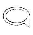 monochrome blurred silhouette of speech bubble vector image