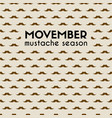 movember mustache season mustache pattern vector image vector image