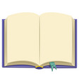 of a book vector image vector image