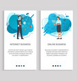 people communication business online web vector image vector image