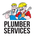 Plumber services resize vector image vector image