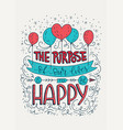 positive lettering card vector image vector image