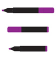 purple marker set vector image vector image