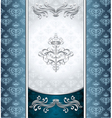 Royal Victorian background with seamless pattern vector image vector image