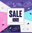 sale banner special offer 50 percent off vector image vector image