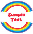 sample text with rainbow background vector image vector image