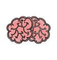 scribble brain cartoon vector image vector image