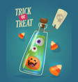 set halloween night backgrounds with poison vector image