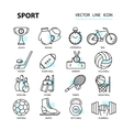 Set modern thin line web icons on sports themes vector image vector image
