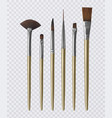 set of realistic brushes for painting vector image
