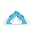 shelter tent icon vector image vector image