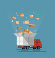 shipping cargo delivery vector image
