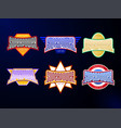sport emblem typography set super power hero vector image