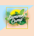 summer camp background for posters and vector image vector image