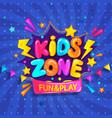 super banner for kids zone vector image