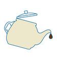 teapot kitchen isolated icon vector image