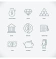 Thin modern line finance icons vector image vector image