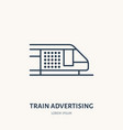 train advertising flat line icon outdoor vector image