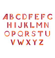 typographic alphabet design set vector image