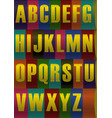 unusual yellow striped alphabet vector image