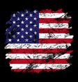 usa flag grunge brush background old brush flag vector image vector image