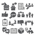 vote icons set on white background vector image vector image