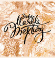 white and golden marble texture hand draw vector image vector image
