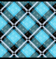 white snowflakes seamless with blue tartan pattern vector image vector image