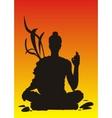 yoga sunset meditation vector image vector image