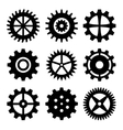 Gear wheels isolated on white background vector image