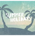 Phrase Summer Holidays on grunge background with vector image