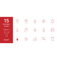 15 paint icons vector image vector image