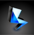 3d color lightning icon vector image vector image