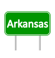 Arkansas green road sign vector image
