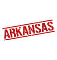arkansas red square stamp vector image vector image