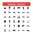 award trophy thin line icons vector image vector image